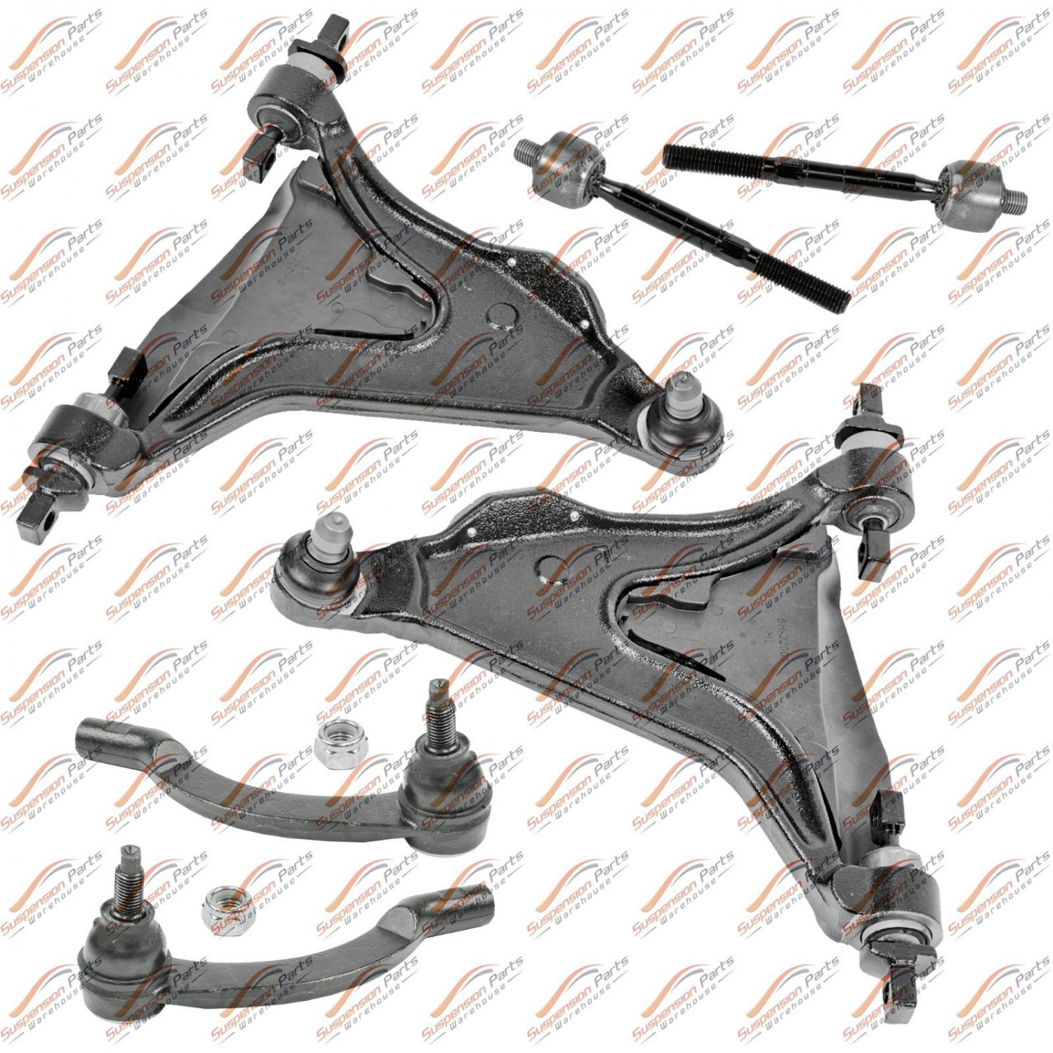 Front Suspension Kit For Volvo C70, S70, V70 New Lower Control Arm Tie Rod Ends