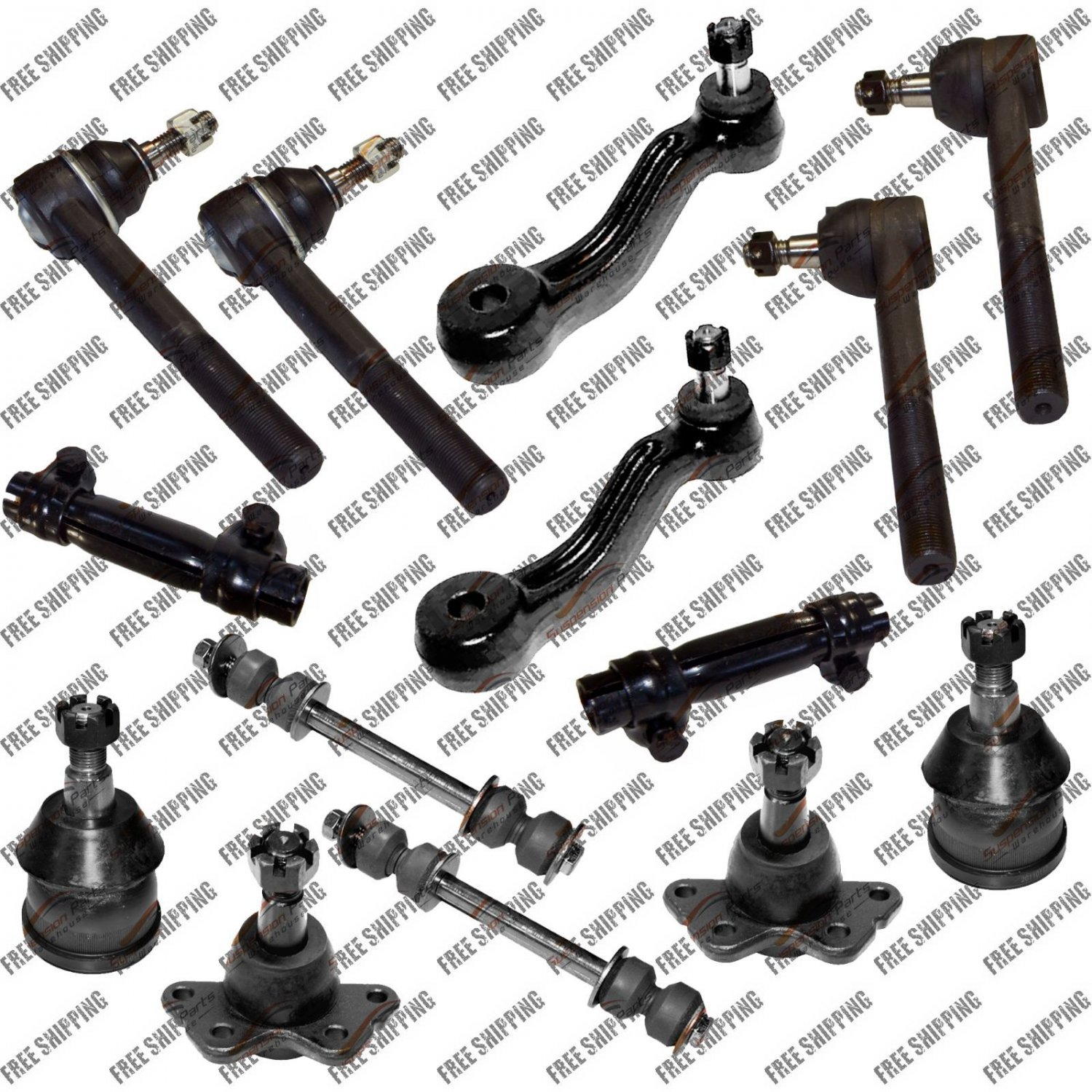 New Steering Kit Idler Arm Tie Rods Ball Joints For Chevrolet Express 2500 3500