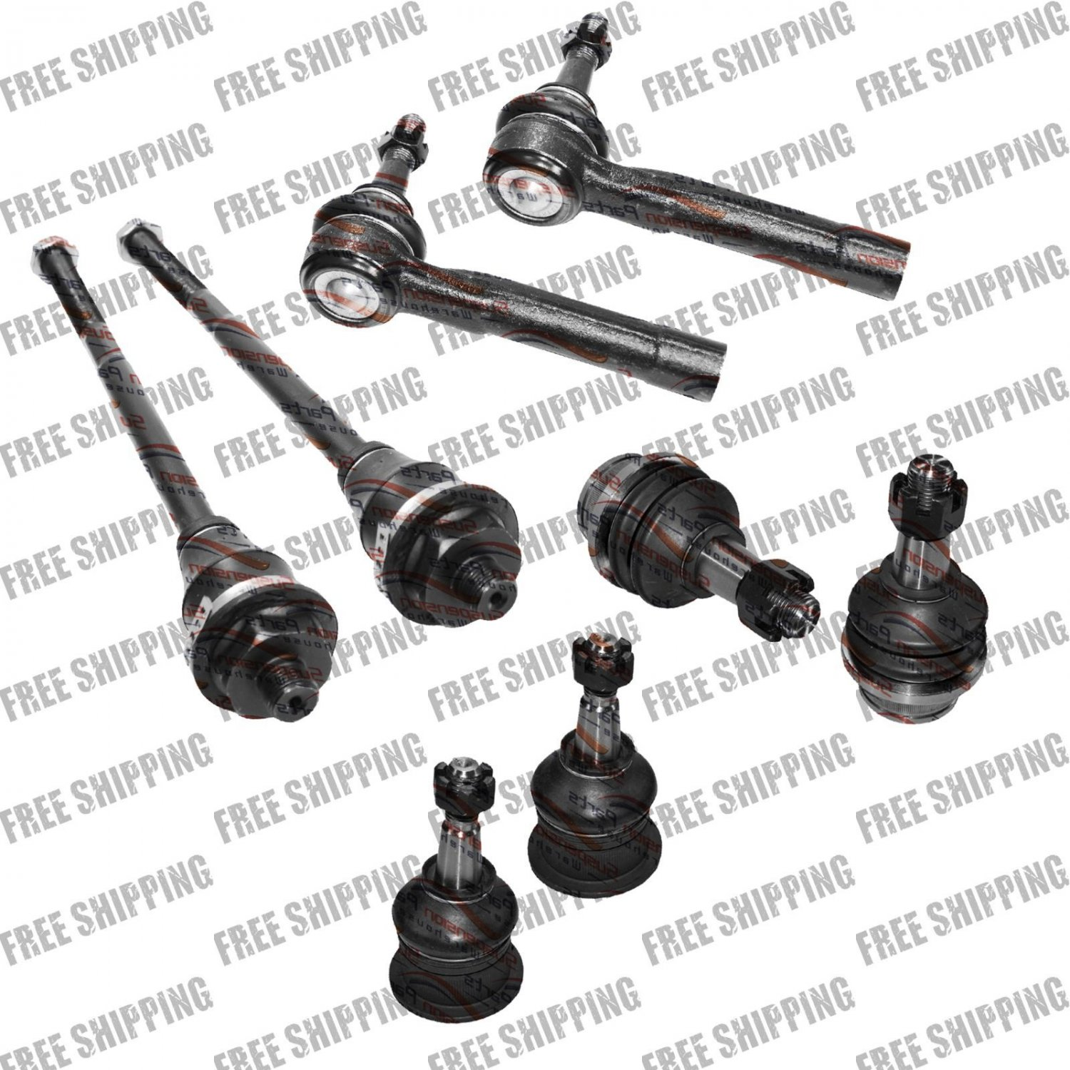 2003,04,05,06,07 Suspension Chassis Kit Ball Joints Tie Rod End For HUMMER H2