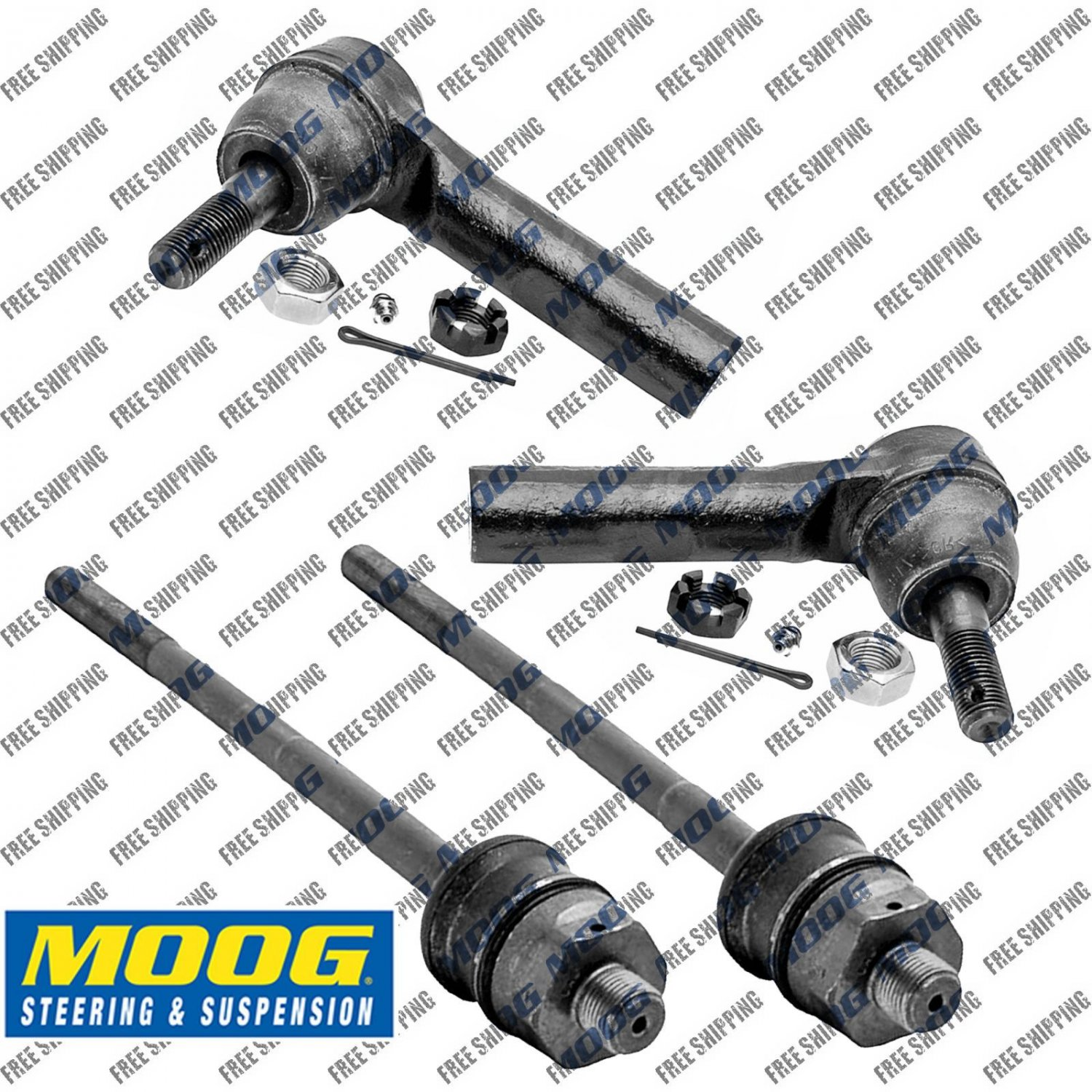 New Steering Tie Rod Inner+Outer Set End Moog ES3493T,ES3488 For Chevrolet Truck