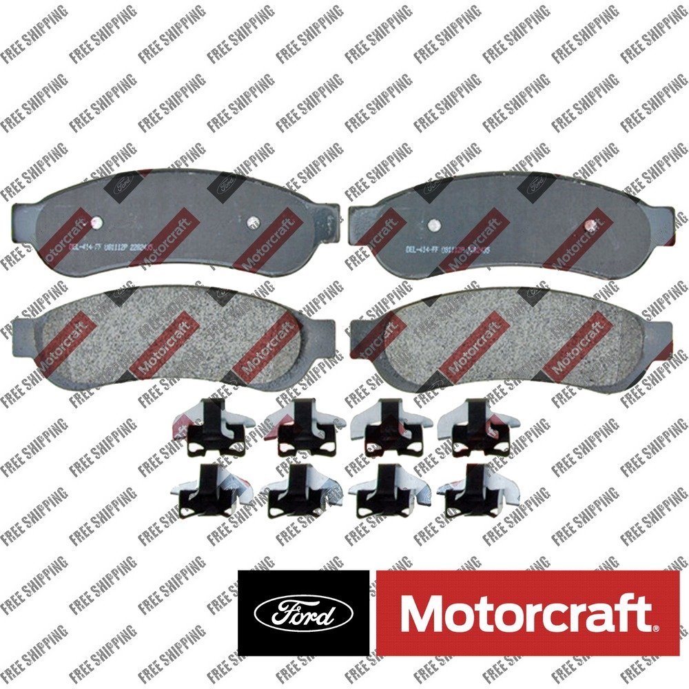 Disc Brake Pad-Standard Premium Integrally Molded Rear Motorcraft BR-1067 Ford