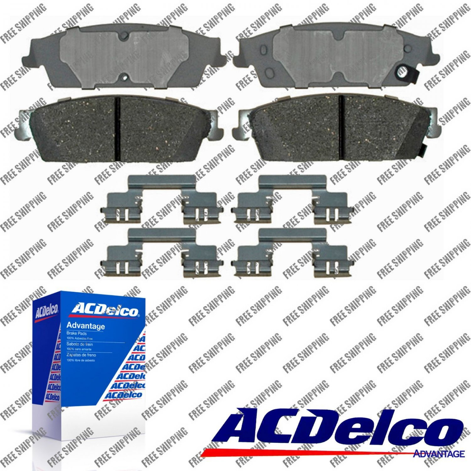 Disc Brake Pad-Ceramic Rear ACDelco For Cadillac Chevrolet GMC Truck