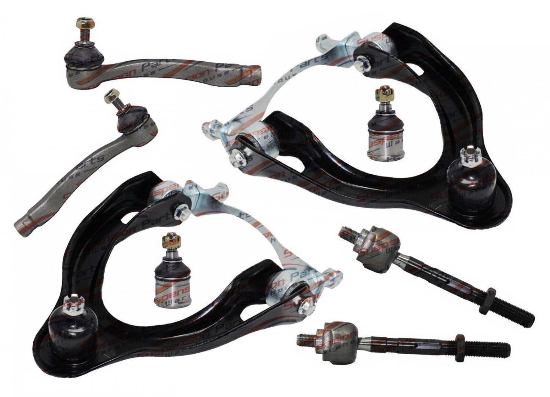 8Pcs Suspension Upper Control Arm Ball Joints Tie Rod for Civic Del Sol Integra