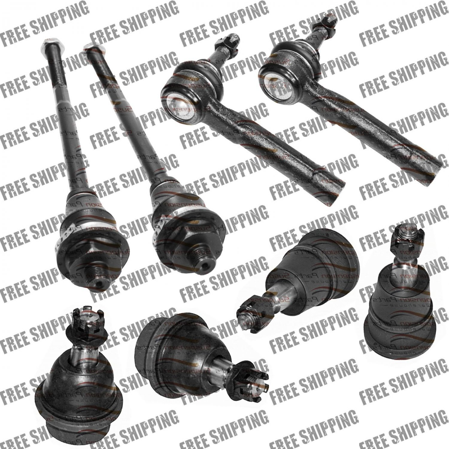 Front Kit End Tie Rods Ball Joints Set For GMC Sierra 3500 and Sierra 3500HD