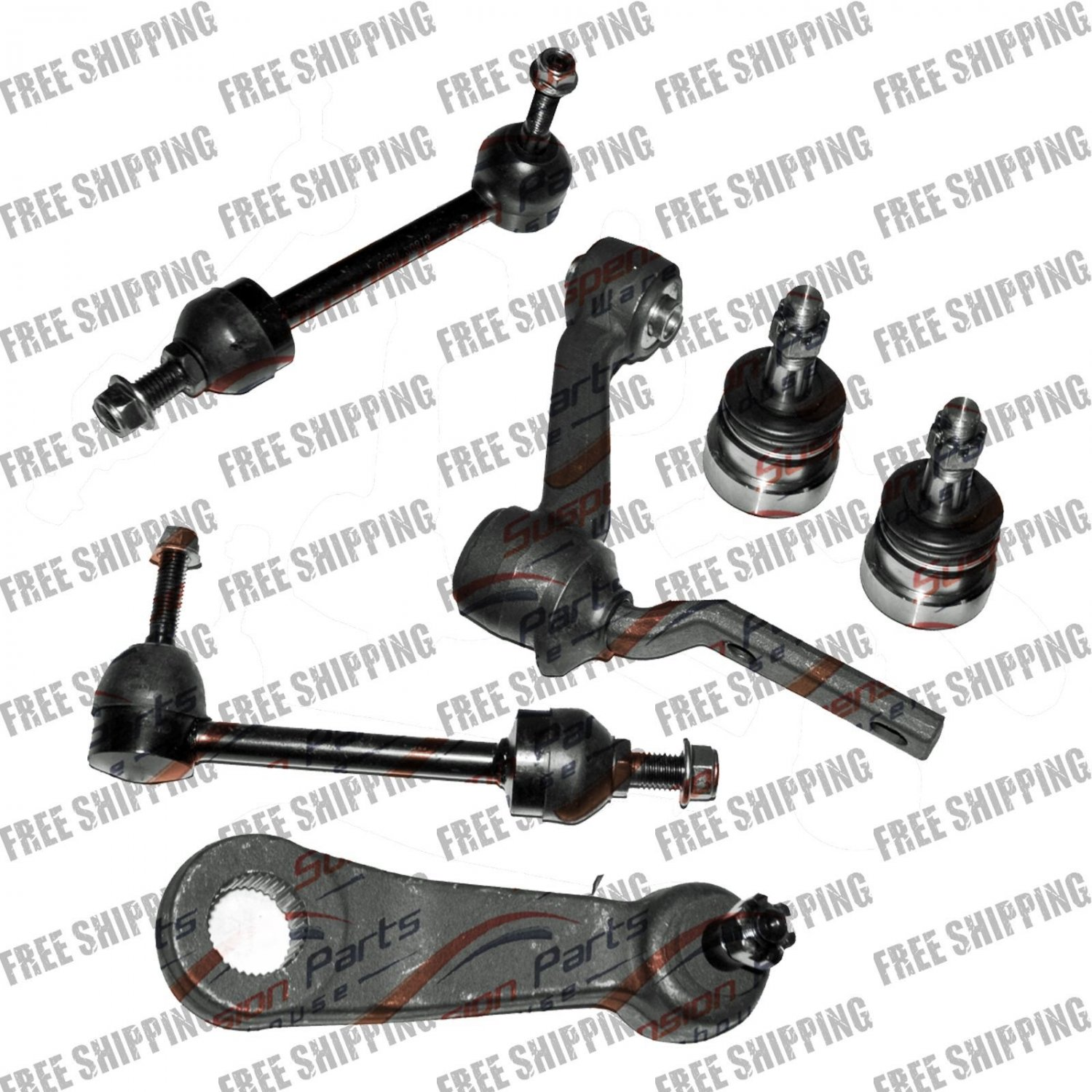 Pitman Arm+Idler Arm+Sway Bar Link+Lower Ball Joint For Mercury Grand Marquis