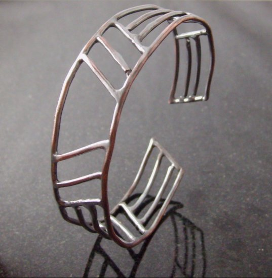men's copper skyscraper cuff