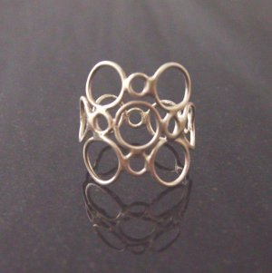 sterling silver patchwork ring