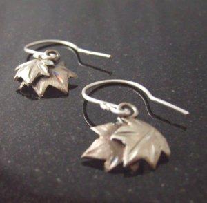 leaves of October sterling silver earrings