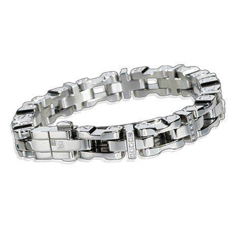 SIMMONS MEN'S 8.75mm Diamond Bracelet 1.0ctw