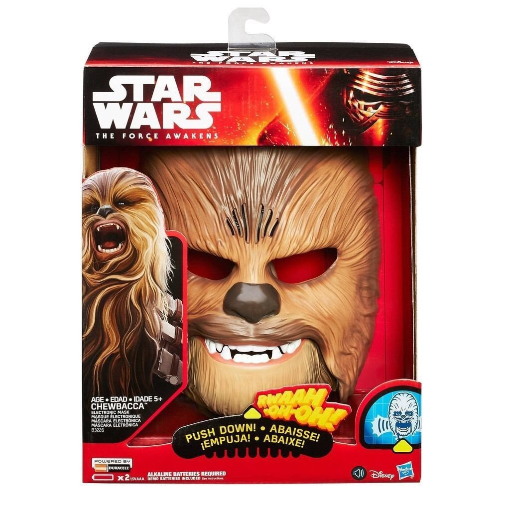 Star Wars The Force Awakens Chewbacca Electronic Laughing,Talking Mask