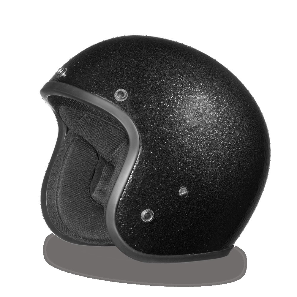 New Daytona Helmets BLACK METAL FLAKE DOT Bike Motorcycle Helmet All sizes DC7-A