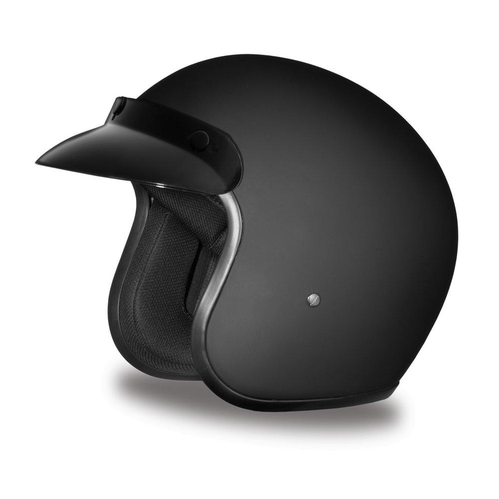 New Daytona Cruiser Dull Black Open Face DOT Motorcycle Helmet All sizes DC1-B