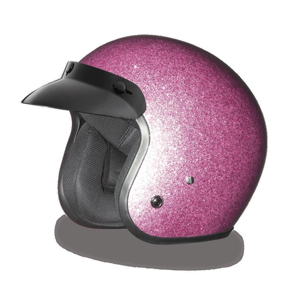 Daytona CRUISER-PINK METAL FLAKE Open Face DOT Motorcycle Helmet All sizes DC7-P