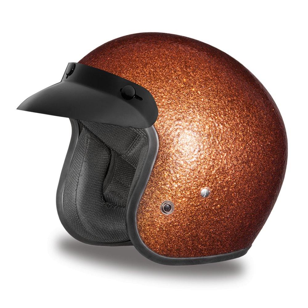 New Daytona CRUISER-ROOT BEER METAL FLAKE DOT Motorcycle Helmet All sizes DC7-RB