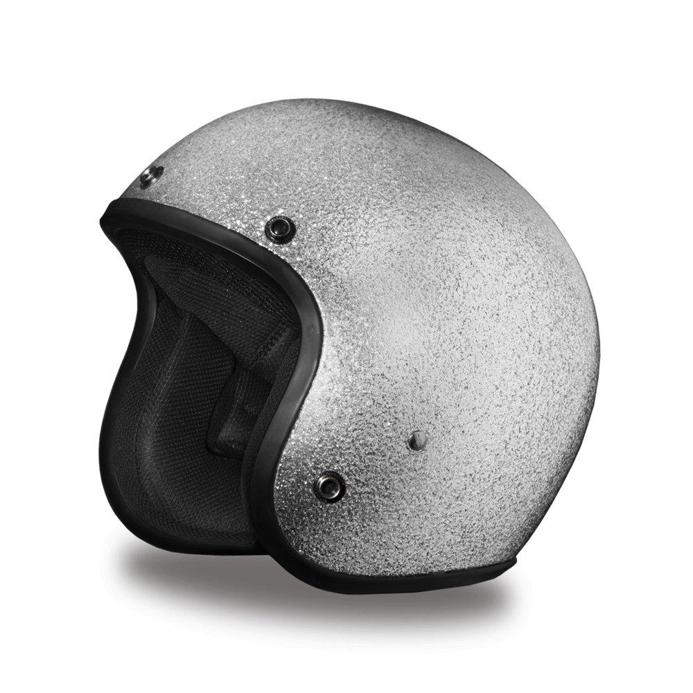 Brand new Daytona Helmets CRUISER-SILVER METAL FLAKE DOT Motorcycle Helmet DC7-S