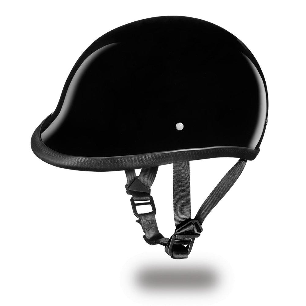 Brand New DOT Daytona Hawk Hi-Gloss Black Open Face Motorcycle Bike Helmet H1-A
