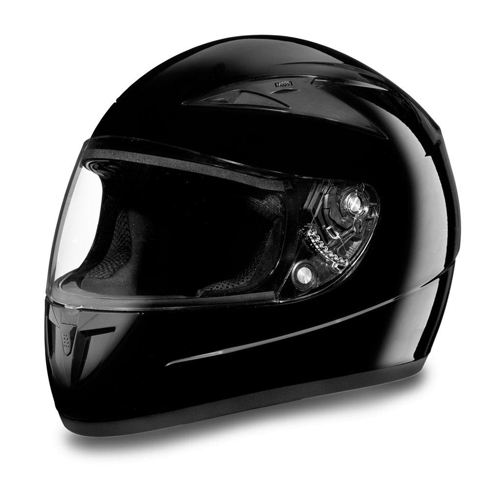 New Daytona Shadow Glossy Black Full Face DOT Motorcycle Helmet All sizes F1-A