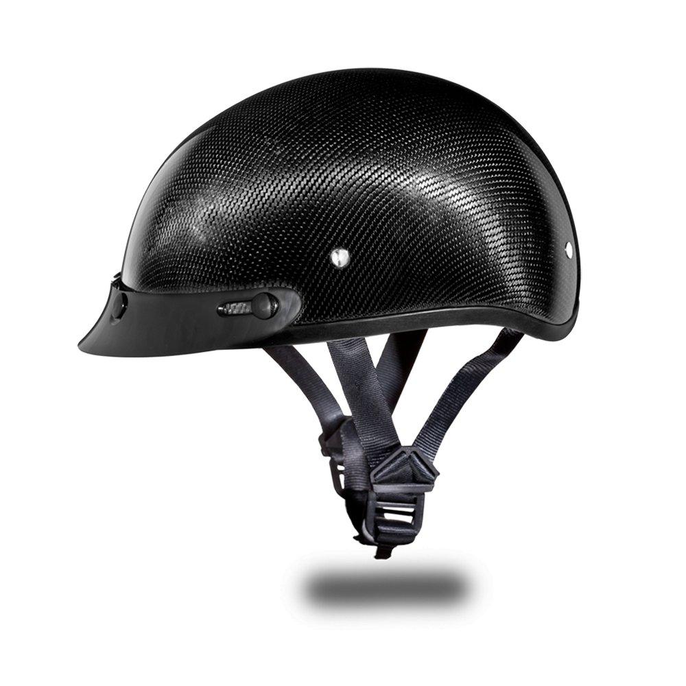 Daytona Helmets Skull CAP GREY CARBON FIBER DOT Open Face Motorcycle Helmet D2-G