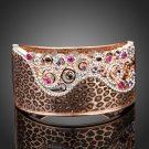 Arista Gems Captivating 18K Rose Gold Plated Austrian Crystals Cuff Bracelet