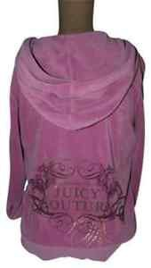 JUICY COUTURE Hoodie Jacket Pink JUICY name on back L