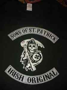 "Mens Shirt 3X ""Sons of St. Patrick Irish Original"" Dark Green Skeleton"