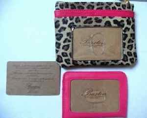 Buxton NWT Change Purse & Card Holder Animal Print Wallet
