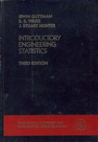Introductory Engineering Statistics (Wiley Series in Probability and Statistics)