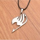 Anime Fairy Tail Logo Necklace silver color Plated Pendant Rope Chain Necklaces