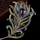 Women Vintage Brooches accessories Leather Brooch Pin Crystal Rhinestone Animal Jewelry