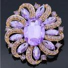 Multicolor Wholesale Large Round Crystal Rhinestone Flower Brooch Pins
