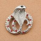 promotion charm gir Personality czech rhinestone king cobra Snake Animal Brooch pin