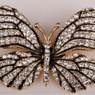 Butterfly brooch pin for women austrian crystal summer jewelry gold color