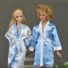 4pcs/2set Bedroom Pajamas Robe Nighty Bathrobe Clothes For Barbie Dolls Robe & Shorts