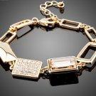 Gorgeous Gold Color Stellux Austrian Crystal Bracelets