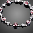 Vintage Charm Women Bracelet with 6pcs Red AAA Cubic Ziconia Eye Connected Bracelet for Women