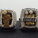One Set 2 PCS 2012 2013 Miami Heat National Basketball Championship Ring James Name 10 size US