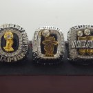 One Set 3 PCS 2006 2012 2013 Miami Heat National Bakstball Championship Ring 10 Size Wade Name