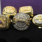 One Set 5 PCS 2000 2001 2002 2009 2010 Los Angeles Lakers Basketball Championship