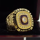 1988 Los Angeles Lakers Basketball world championship ring 8-14S copper