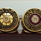 2PCS 1980 1982 Los Angeles Lakers Basketball world championship ring 8-14S