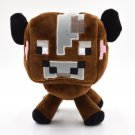 16cm Minecraft Plush Toys High Quality Minecraft Brown Cow Plush Toys Doll Stuffed Animals Toys