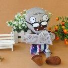 Newspape Zombie Plush Toys 30cm Plants vs Zombies Soft Stuffed Toys