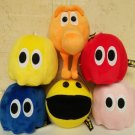 6pcs/lot Movie Pixels Pacman Q-Bert Plush Toys Doll Kawaii Pixels Qbert & Pac-man & Ghost