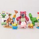 9pcs/lot Cosplay Toy Story 3 Sheriff Woody Buzz Lightyear Jessie Hamm Rex Slinky Dog PVC