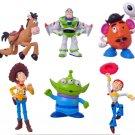 6pcs/lot Anime Cartoon Toy Story Buzz Lightyear woody Set PVC Action Figure Doll Toys