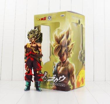 34cm Big Size Son Goku Battle Damaged Figure Toy Banpresto Dragon Ball (with BAG)