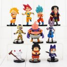 10pcs/lot 4-9cm Dragon Ball Z Figure Toy Goku Vegeta Super Saiyan (Style A)