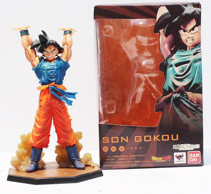 16cm Anime Dragon Ball Z Figuarts Zero Son Goku Spirit Bomb Genki Dama Ver with box