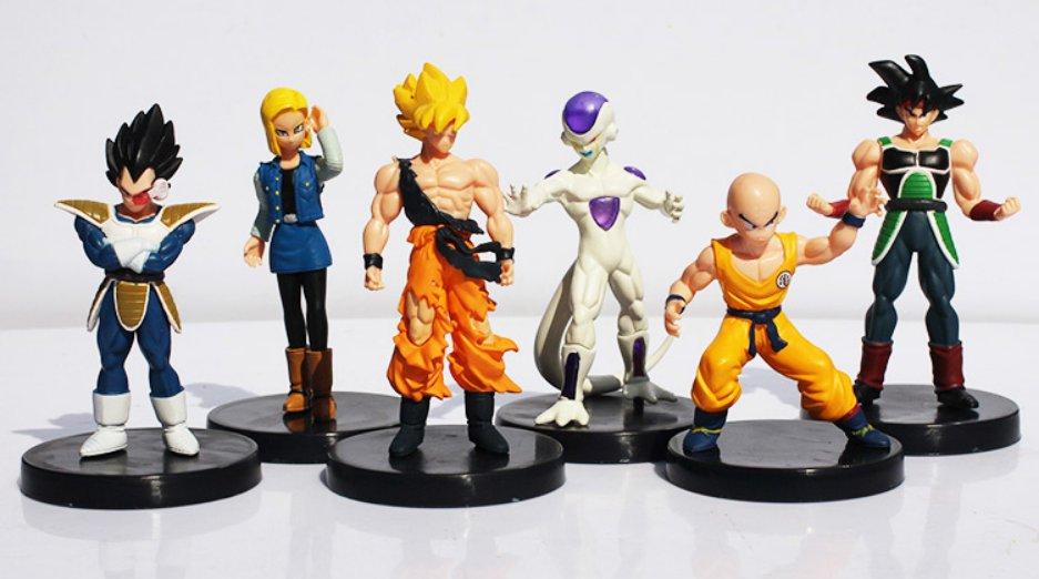 6pcs/lot Dragon Ball Z Figures Dragonball Son Goku Frieza Vegeta Kuririn Burdock
