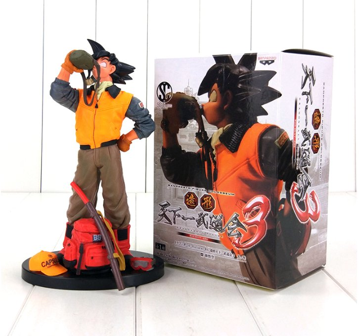 Dragon Ball Z Goku Drinking Water Yamcha With Sword Anime with box
